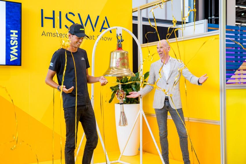 Opening HISWA 2020 met Kiran Badloe en beursmanager Gertjan Roos