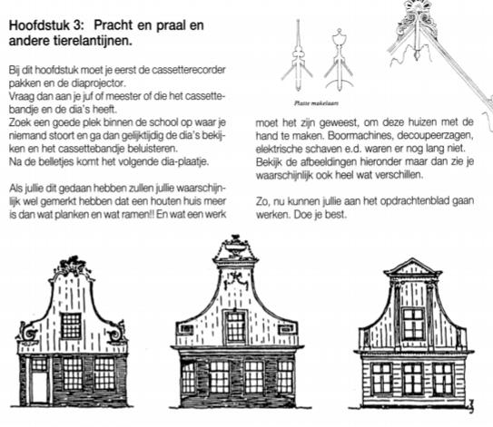 Een foto van een van de pagina's uit het lespakket